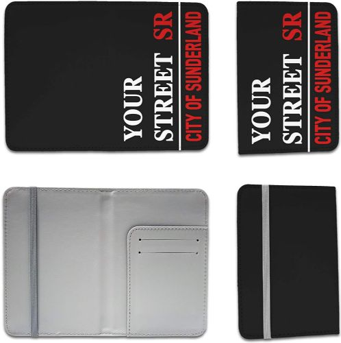 Personalised Your Street & Address Passport Holder - Black